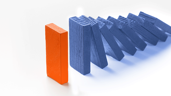 Orange and blue blocks